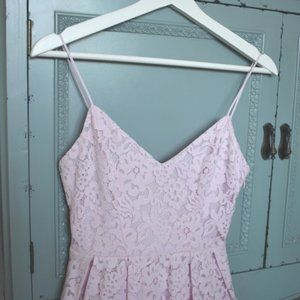 NWOT - Short Light Pink Lace H&M Dress